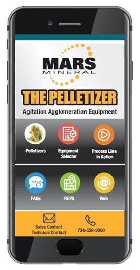 "MARS MINERAL DEVELOPS ""THE PELLETIZER"" MOBILE APP"